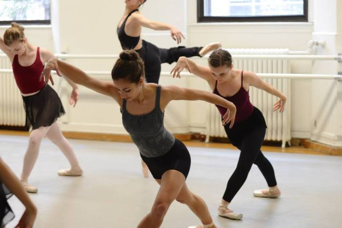 CBC dancers in Nancy Cantine's piece. Photo by Andrea Arellano.