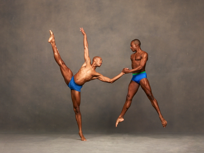 Alvin Ailey American Dance Theater's Antonio Douthit-Boyd and Kirven Douthit-Boyd. Photo by Andrew Eccles