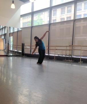 Dancer Maxine Montilus rehearses a solo dance piece.